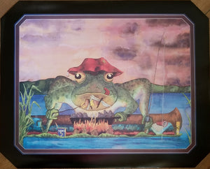 """EVENING'S CATCH!""  Sportfishing Bullfrog POSTER  20"" X 26"""