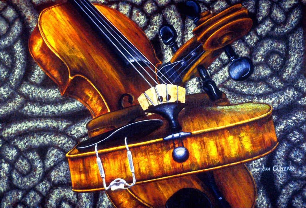 CELTIC FIDDLE STUDY NO. 2  |  ORIGINAL JAN CLIZER PAINTING
