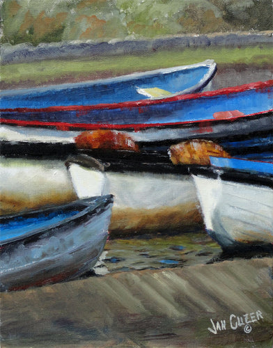 Boats, Bude Canal, Cornwall, Limited Edition Canvas Giclee Print, 9