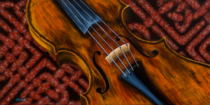 """CELTIC FIDDLE STUDY NO. 6"" Limited Edition Hand Signed & Numbered Canvas Giclee Print   14"" x 28"""
