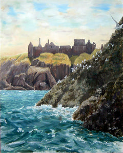 """DUNNOTTAR FROM THE SEA""  Limited Edition Canvas Giclee Print    16"" x 20"""