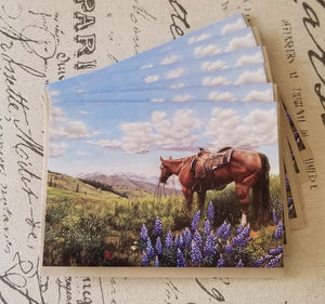 "Florida Looking at Texas  -  Fine Art 5"" x 7"" Blank Card w/Matching Envelope"