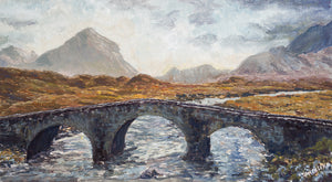 """GATEWAY TO THE CUILLINS"" Limited Edition Hand Signed & Numbered Canvas Giclee Print  11"" x 19"""