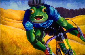 """HILL COUNTRY""  Musclebound Road Biking Bullfrog POSTER  22"" X 28"""