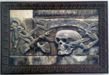 MEMENTO MORI | HEADSTONE ART |  ORIGINAL JAN CLIZER PAINTING