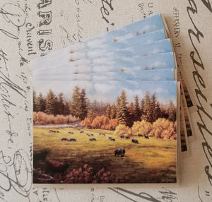 "The Old Mill Site  -  Fine Art 5"" x 7"" Blank Card w/Matching Envelope"