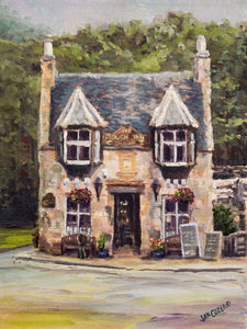 """THE PLOUGH INN"" Limited Edition Hand Signed & Numbered Canvas Giclee Print  12"" x 16"""