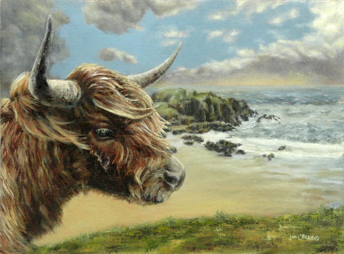 Highland Cow Art - Viking Chess Set - Artsy Gift - Cow Art - Cow Art for Walls - Scottish - Whiskey - Farmhouse Decor - Rustic - Chess