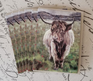 "Uig Highlander Fine Art 5"" x 7"" Blank Card w/Matching Envelope"