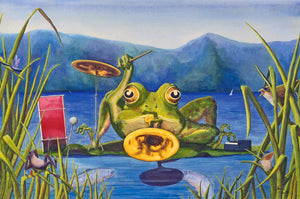 """WATERMUSIC"" 18"" x 24"" Musical Frog POSTER"