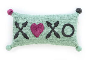 FAV 19 - Cushion XOXO turquoise