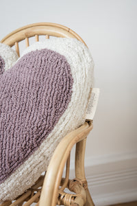 FAV 41 - Heart Mauve cushion
