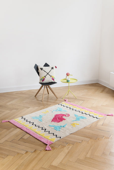 FAV 4 - Rug Origami rectangular with tassels