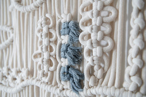 Macrame tapestry underwater world, mint
