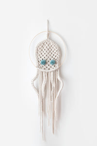 Macrame dream catcher octopus, mint