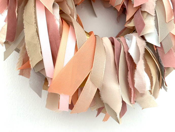 Lucky wreath MARISA in pink tones