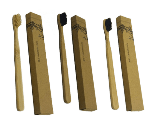 3 Pcs  Bamboo Tooth brush