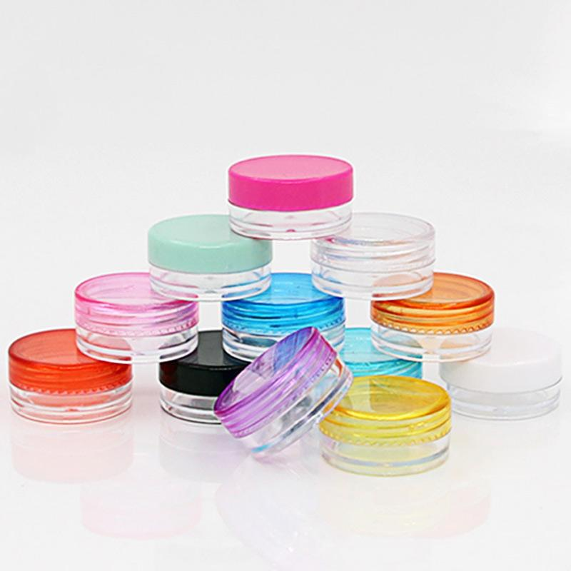 10 Pcs / set Plastic Cosmetic Box Empty Jar Nail Art