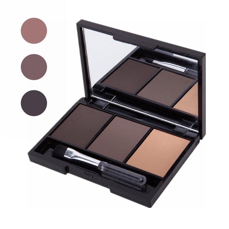 3 Colour Shadow Eyebrow Powder Shadow Palette