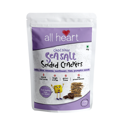 Dark Chocolate Sea Salt Seeded Crackers 40gms