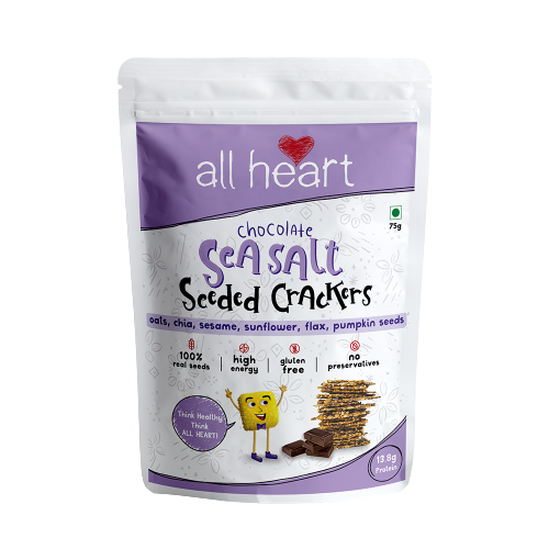 Dark Chocolate and Sea Salt Seeded Crackers 75g