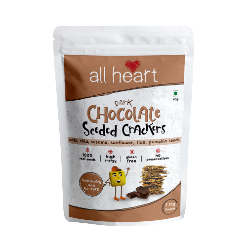 Dark Chocolate Seeded Crackers 40gms