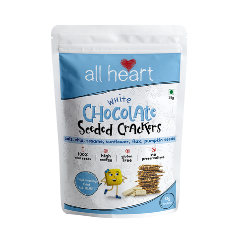 White Chocolate Seeded Crackers 75gms