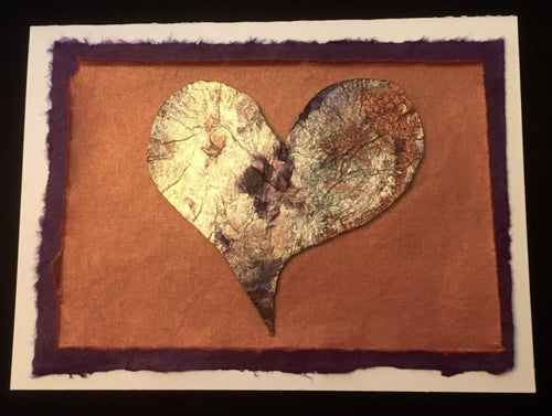 Sold Purple Bronze Heart