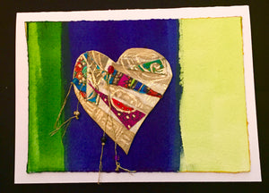 SOLD Abstract Collage Heart