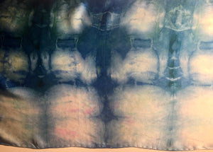 #104 Charmeuse Blue and White Shibori