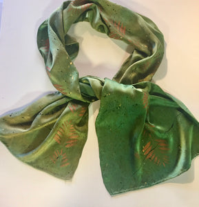 14x72 Bronze Leaf on Shades of Green