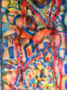 SOLD Brillant Abstract Silk