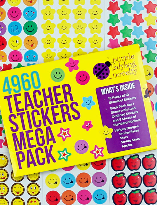 Purple Ladybug Teacher Stickers selected as Best Stickers   in the mid-range category!
