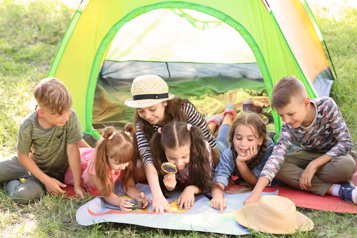 "FREE Printables: Camping Activity Sheets ""Back-to-School Backyard Campout """