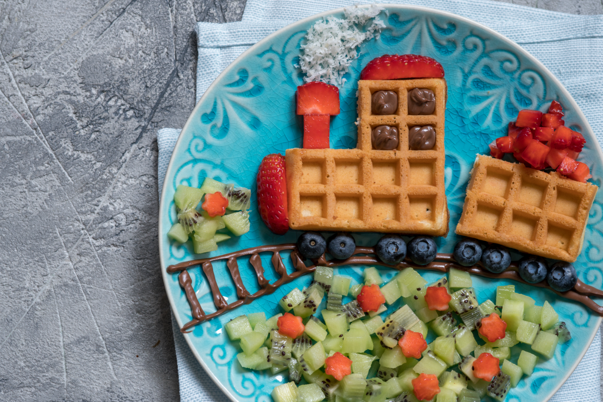 "FREE Printable: Draw & Color the Other Half ""Enjoy Waffles All Day TODAY!"""