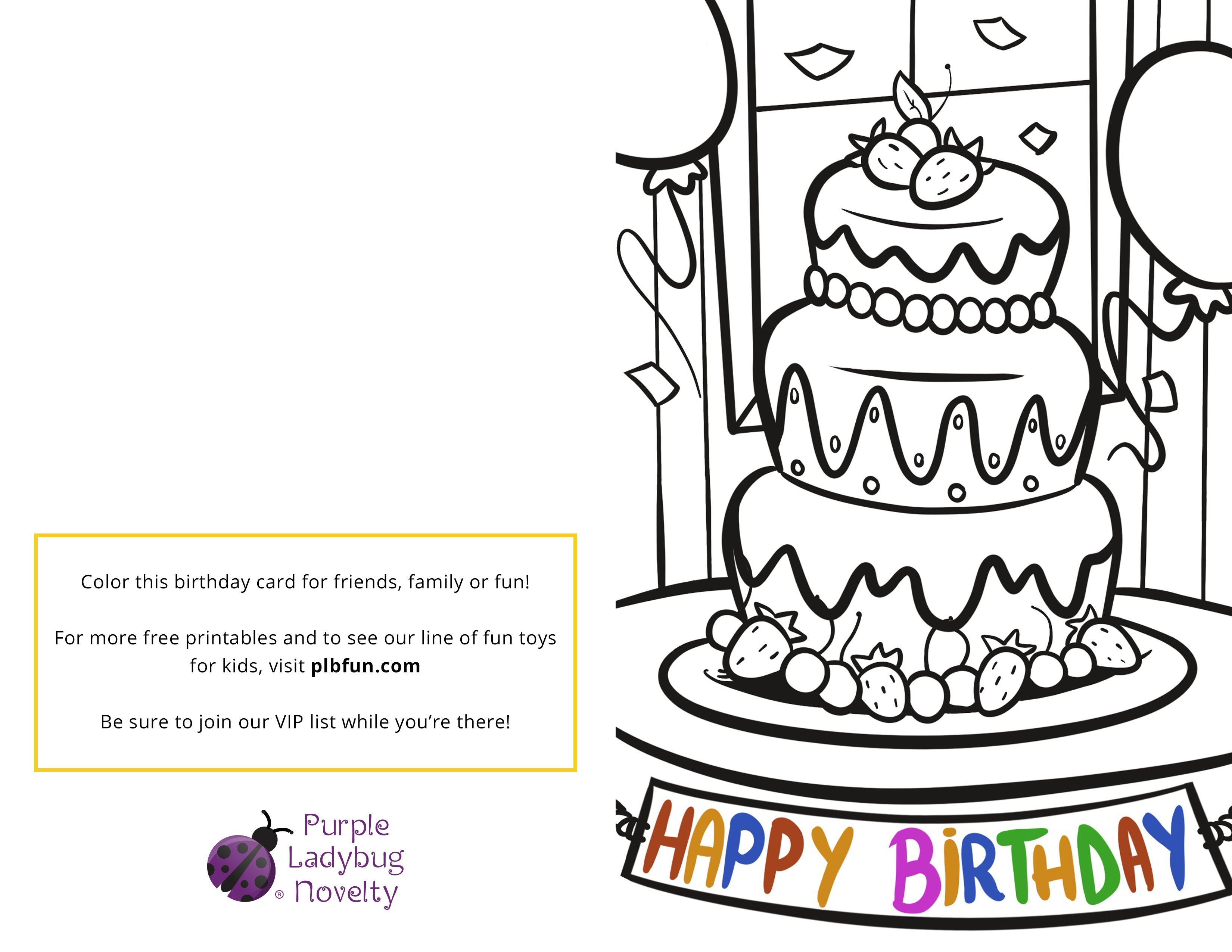 Free Printable Birthday Card Happy National Siblings Day Purple Ladybug Plbfun