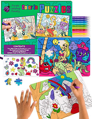 puzzle kit comes with pencil case and markers