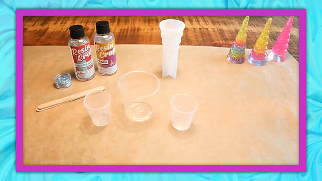resin mold craft kit for kids to make at home with their parents and friends
