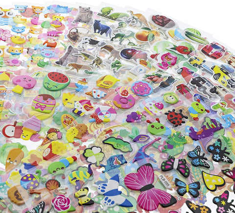 kid-friendly stickers in bright colors; great bedroom idea for wall decor to fill entire space