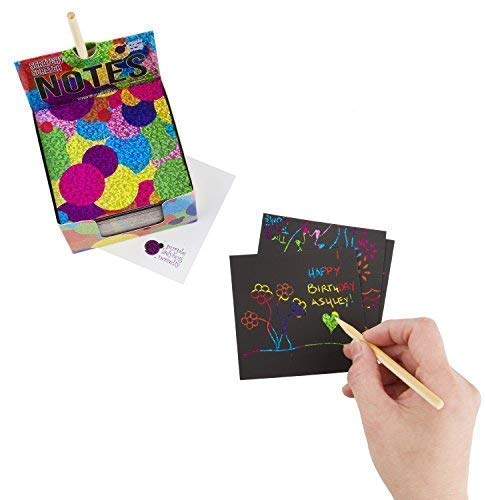 Scratchy Scratch Mini Notes: Rainbow,Rainbow Holographic & Silver Holographic