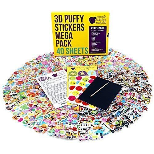 40 Sheets Puffy Sticker Mega Variety Pack (950+ stickers)