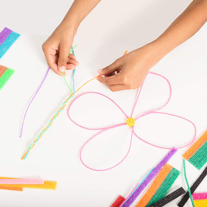 Mega Mix Pack of Kids Wax Craft Sticks - 15 Colors, 2 Lengths - 6 Inch Standard and 12 Inch Super Long, 150 of Each - Non-Toxic Wax Stix, Kid Art Supplies with no Mess, Great as Travel Toys!