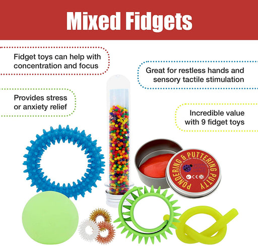9 Fidget & Sensory toys Mixed Pack