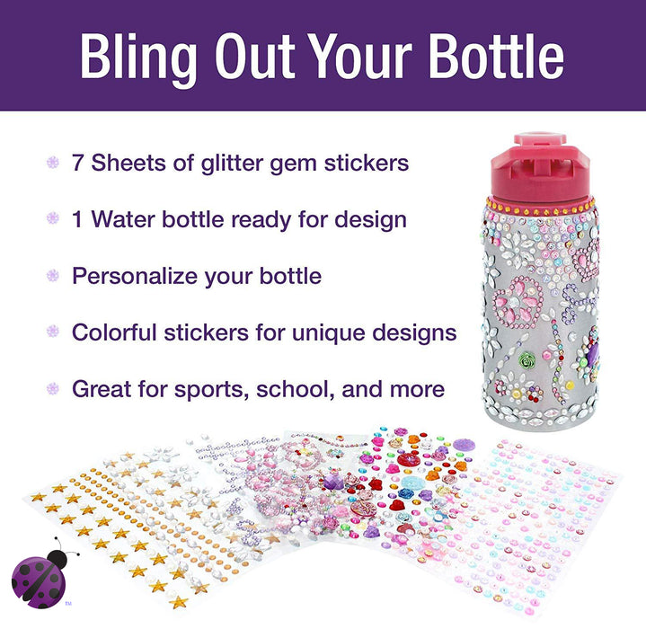 Glitter Gem Water Bottles for Girls