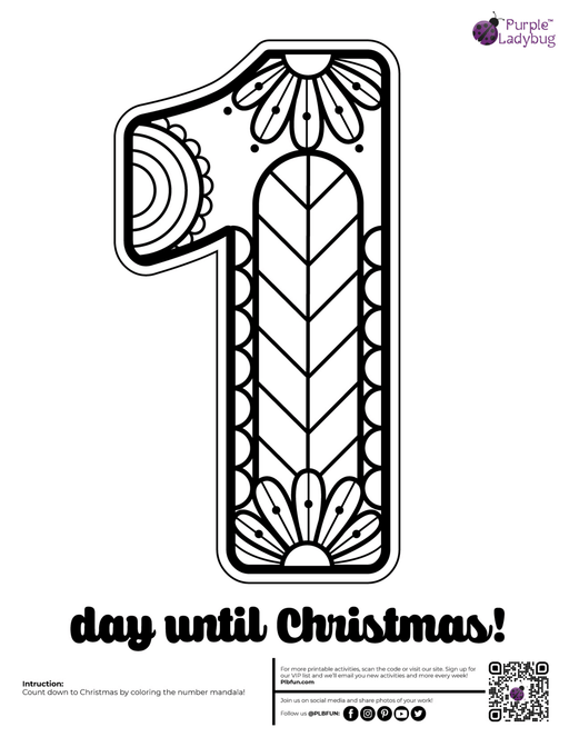 Advent Countdown Printables Set A