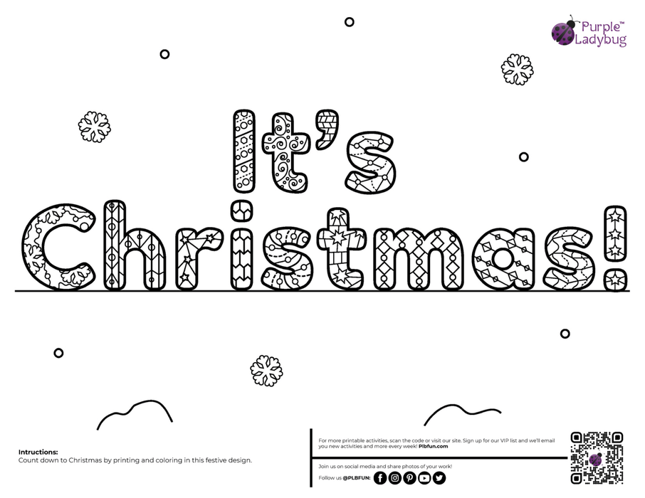 Advent Countdown Printables Set B
