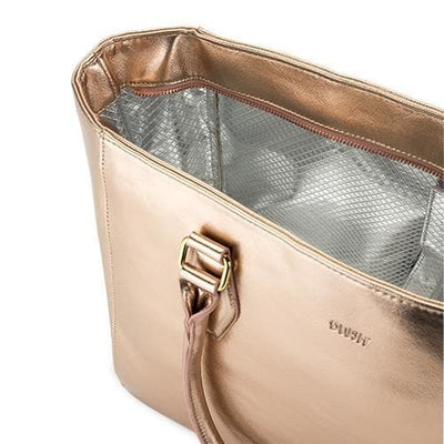 Insulated Rose Gold Wine Tote - Island Life Monograms