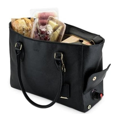 Black Insulated Wine Tote - Island Life Monograms