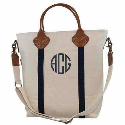Navy Canvas Flight Bag - Island Life Monograms