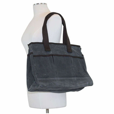 Waxed Canvas Utility Tote - Island Life Monograms